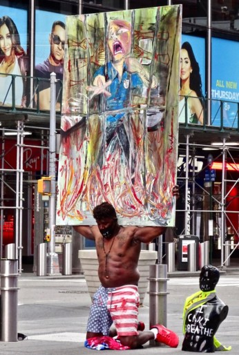 I Can't Breathe protester in Times Square