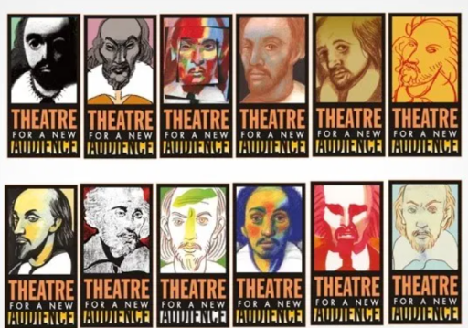 Shakespeare posters by Milton Glaser