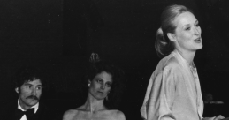 "Meryl Streep accepting her Obie in 1981 for ""Alive in Concert,"" from Obie hosts Sigourney Weaver and Kevin Kline (who also won an Obie that year, for Pirates of Penzance. Obies were boosts to the early careers of actors such as Streep, Al Pacino, and Dustin Hoffman; as well as writers Samuel Beckett, Jean Genet and Sam Shepard; and directors Harold Prince and Alan Arkin."