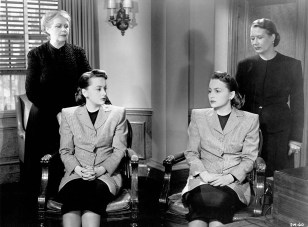 The Dark Mirror (1946) Directed by Robert Siodmak Shown seated: Olivia de Havilland (as twins)