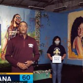 Louisiana. Representative Cedric Richmond and Mayor LaToya Cantrell of New Orleans at a once-abandoned building turned into an arts and community center