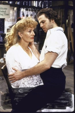 """Actors Kevin Anderson & Vanessa Redgrave in a scene fr. the Broadway production of the play """"Orpheus Descending."""""""