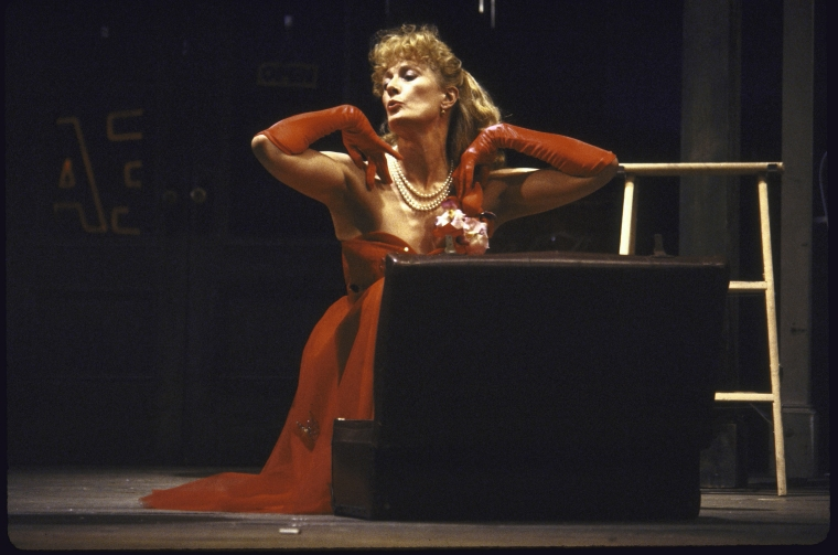 """Actress Vanessa Redgrave in a scene fr. the Broadway production of the play """"Orpheus Descending."""""""