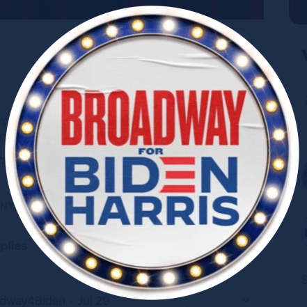 broadway for Biden Harris logo