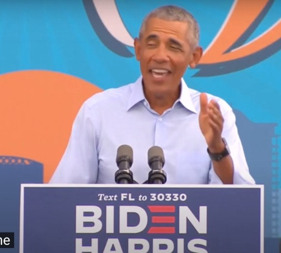 Obama in Orlando talking about Trump