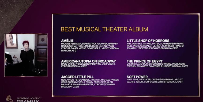 Musical Theater Album nominations 2021
