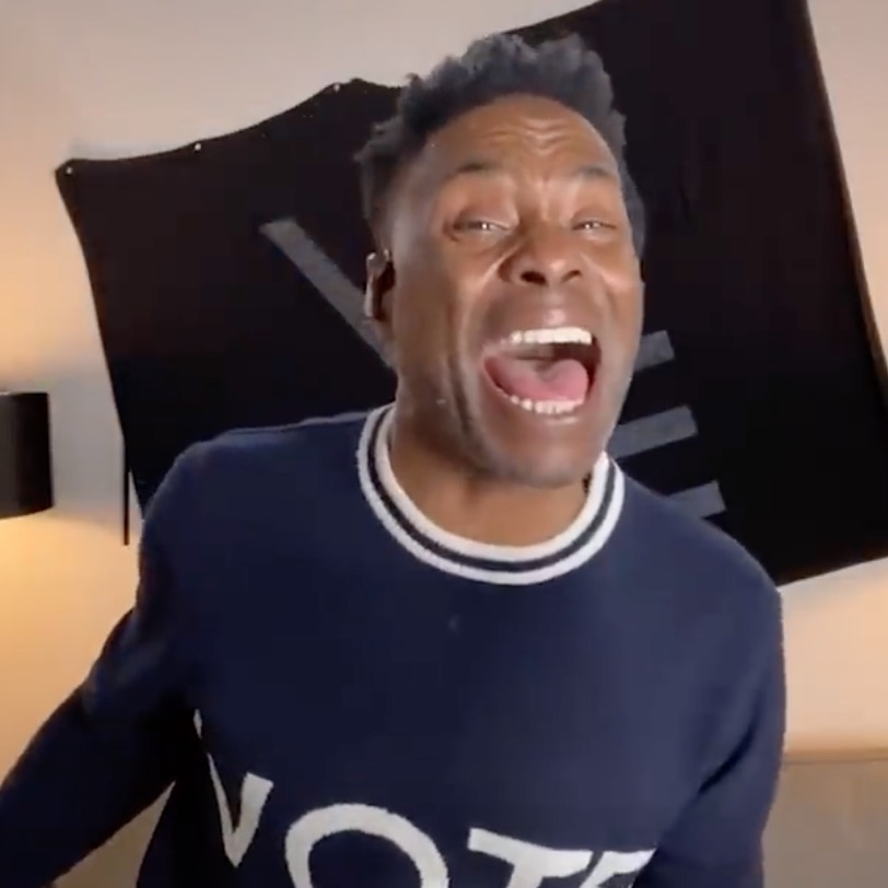 """Billy Porter, one of nearly 70 Broadway stars singing """"Georgia On My Mind"""" to raise funds for the Democratic candidates for the January 5, 2021 Georgia Senate Runoff Election. Porter performs in two other videos below."""