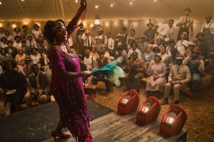 Viola Davis as Ma Rainey in a tent concert rural Georgia