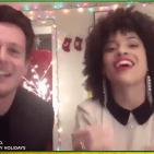 Hosts Jonathan Groff and Sasha Hutchings (who's from Georgia)