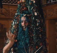 Machine Dazzle as a Christmas tree in Taylor Mac's Holiday Sauce Pandemic
