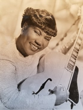 "Before Elvis, before Little Richard, and before Johnny Cash there was Sister Rosetta Tharpe (1915-1973). A singer, songwriter, and guitarist (since the age of 4), Sister Rosetta is known as the ""Godmother of Rock and Roll. Her music has influenced the likes of Elvis Presley, Chuck Berry, Carl Perkins, and many more."