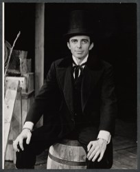 "Darrell Sandeen portrayed Lincoln in ""The Young Abe Lincoln"" on Broadway in 1971, which was about Abraham Lincoln's years in New Salem, Illinois, in which he was introduced to politics and romance. The musical is by Victor Ziskin, Joan Javits, Richard N. Bernstein, John Allen and Arnold Sundgaard"