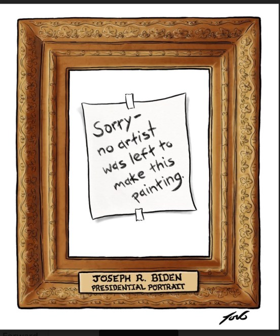 Absent painter Tom Toro Cartoon