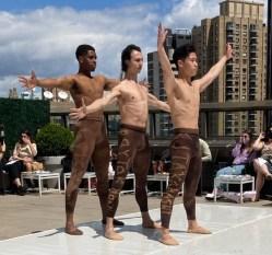 Vitruvian Man. Performed by Christopher Grant, KJ Taahashi and Spartak Hoxha.Choreography by David Fernandez. Music: Palladia (1st Movement) by Karl Jenkins