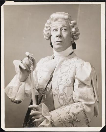 """Bert Lahr as as His Most Royal Majesty, The King of France in """"Du Barry Was a Lady"""" 1939 (See 1956 below)"""