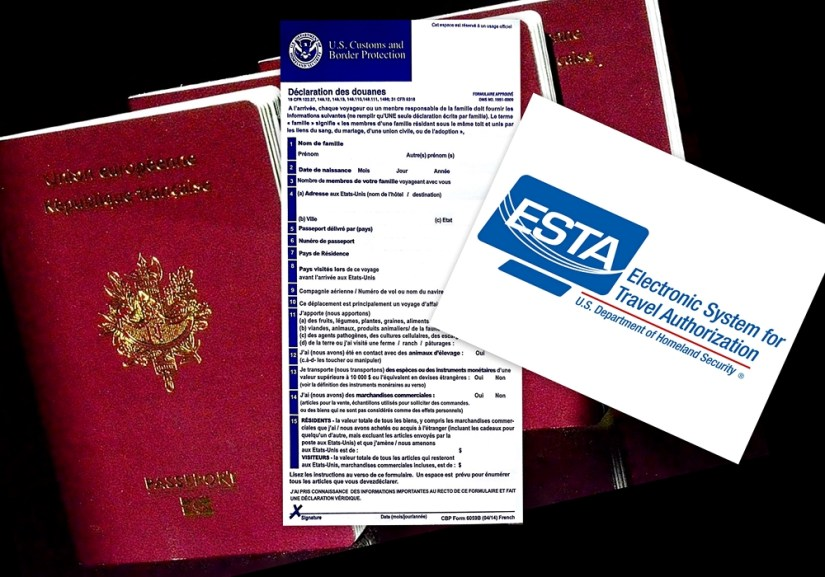 Documents et démarches administratives pour entrer aux USA.