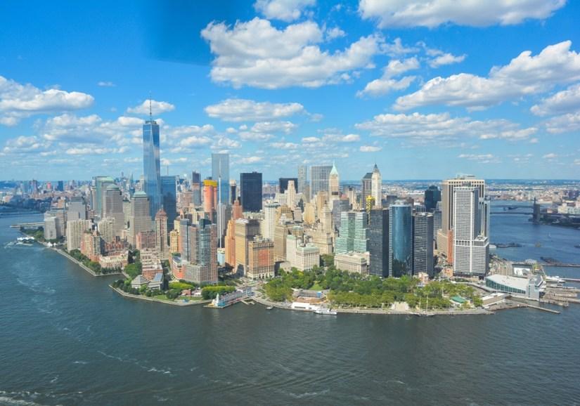 Manhattan île, east river pas rivière