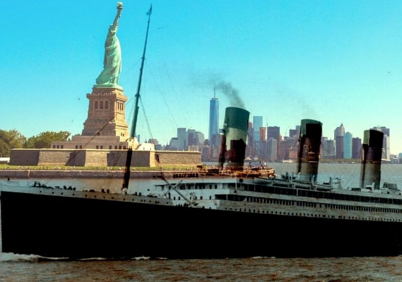 titanic,paquebot,pier,port,manhattan,nauffrage,iceberg,accoster,existe,new york