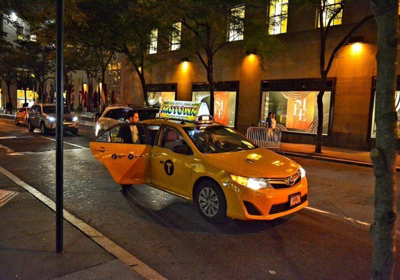 taxi jaune à Manhattan