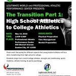 Panel Event on Long Island for Young Student-Athletes