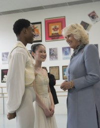 Camilla, the Duchess of Cornwall meets with Royal Winnipeg Ballet Professional Division