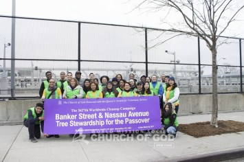 world mission society church of god, church of god, wmscog, church of god in new york, environmental protection, tree stewardship, yellow shirt volunteers