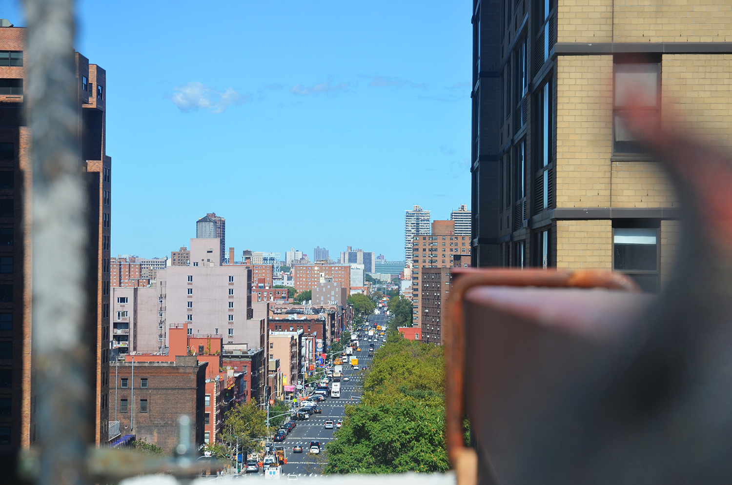 View up Third Avenue from The Kent, 200 East 95th Street