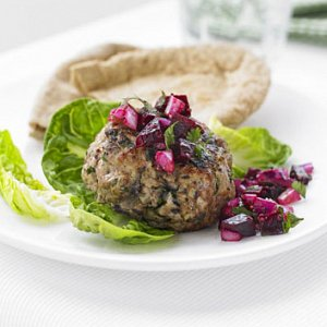 Turkey Burgers With Beetroot Relish