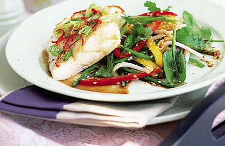 Ginger Roast Cod With Salad