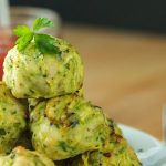 Baked Chicken Courgette Meatballs