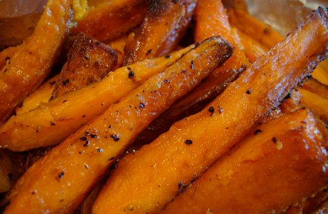 Salmon and Sweet Potato Wedges