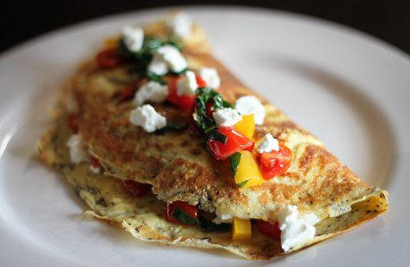 Feta and Semi Dried Tomato Omelette
