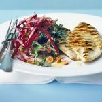 Grilled Chicken With Beetroot Slaw