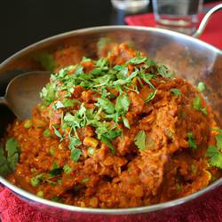 Spinach, Red Lentil and Bean Curry