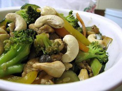 Stir Fried Vegetables With Cashews