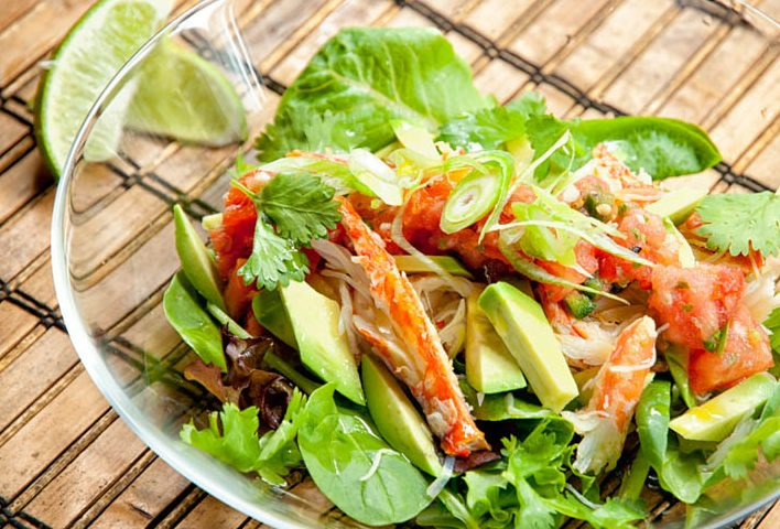New You Boot Camp Crab Taco Salad