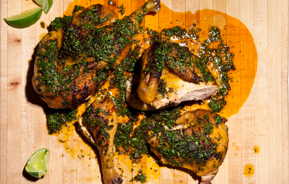 Grilled Chicken With Board Dressing