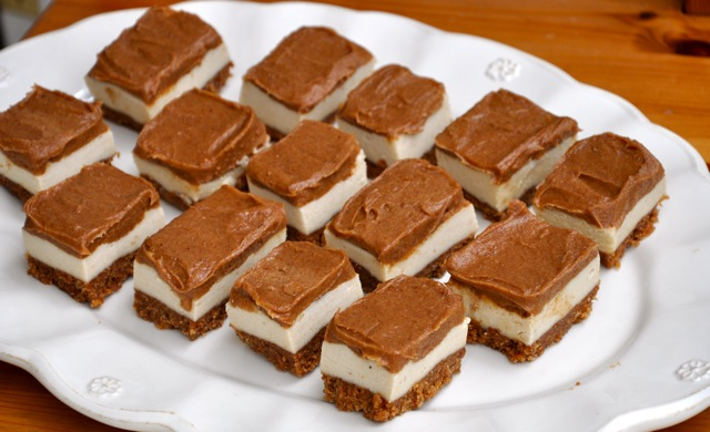No Bake Caramel Slices