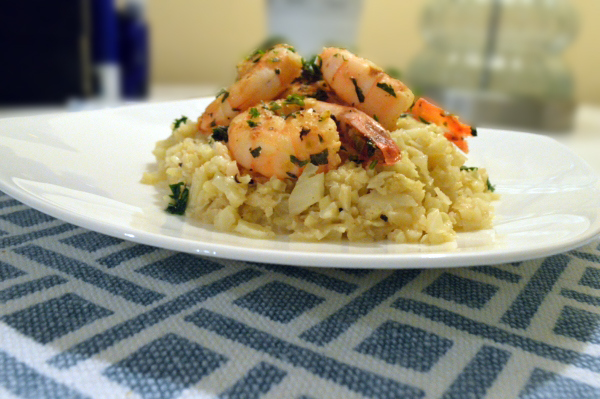 Cauliflower Risotto With Prawns