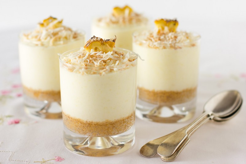 Pina Colada Cake in a Glass