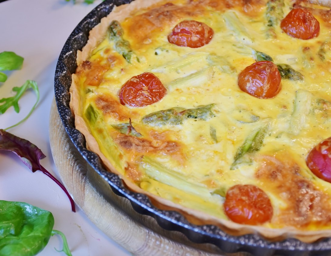 Almond Based Vegetable Quiche