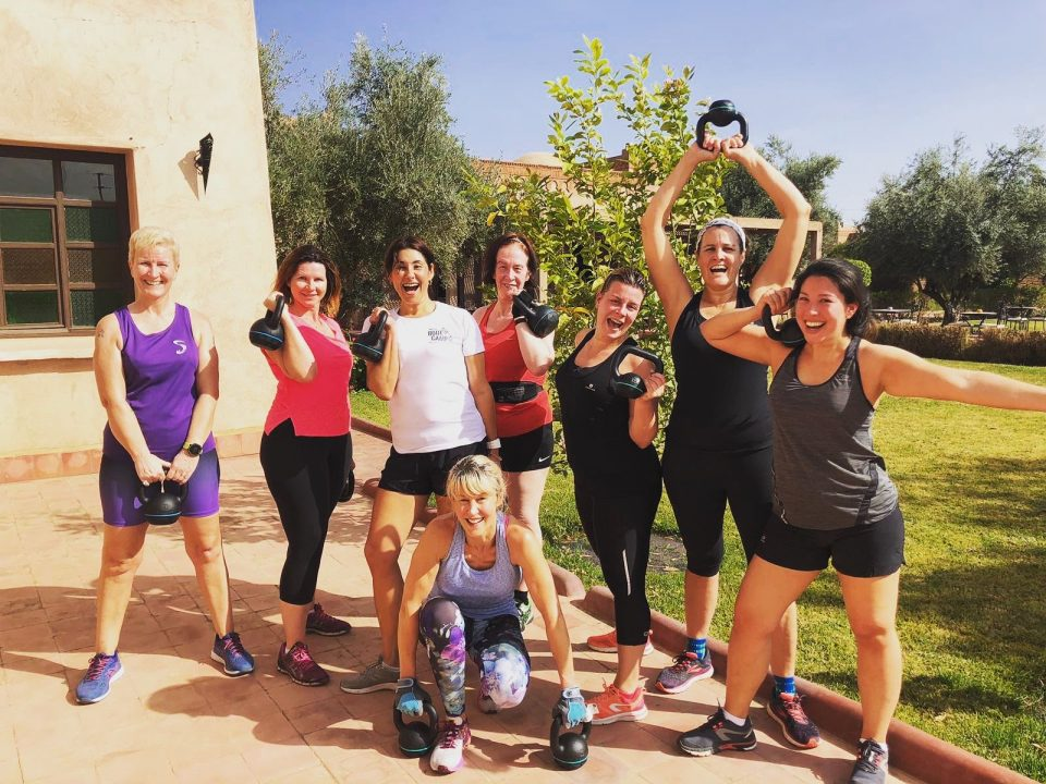 Women Teaming Together During a Solo Fitness Holiday
