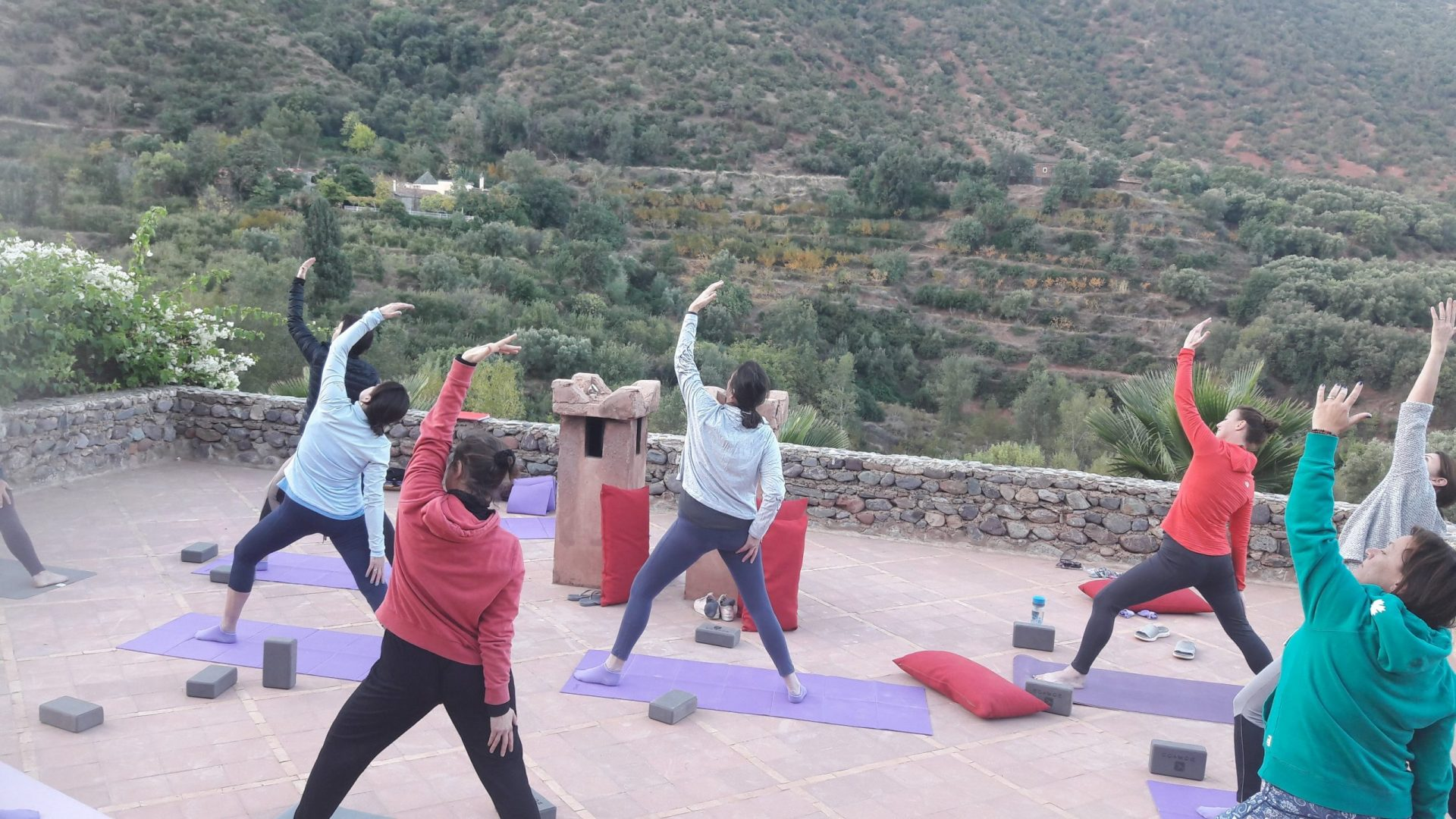 Yoga on the Atlas Mountains