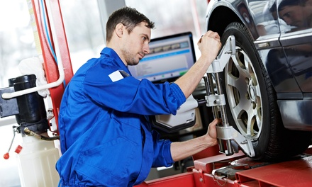 Wheel Alignment & Puncture Check for Car ($29), SUV ($39) or 4x4 ($49) at Manus Tyre Service (Up to $113.85 Value)