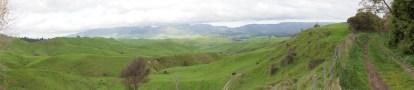 Panorama über Weideland für die Schafe