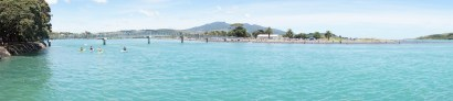 Panorama der Hafenpromenade