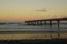 Strand und Pier in Christchurch