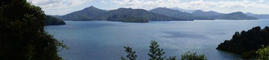 Panorama über die Marlborough Sounds