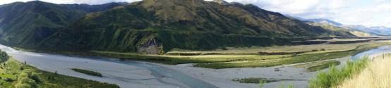 Panorama über die Landschaft zwischen