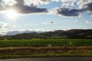 Sonnenuntergang am SH 7, kurz vor Christchurch